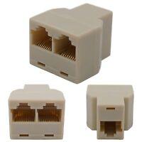 RJ45 Y-Adapter Splitter Netzwerk Ethernet Cat5 Cat6 Stecker Lan Kabel Verteiler