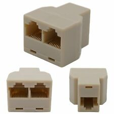 RJ45 Y-Adapter Splitter Netzwerk Ethernet Cat5 Cat6 Stecker Lan Kabel Verteiler
