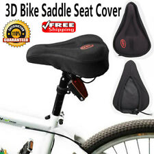 Bicycle 3D Soft Silicone Gel Saddle Seat Cover MTB Road Bike Cycling Cushion Pad