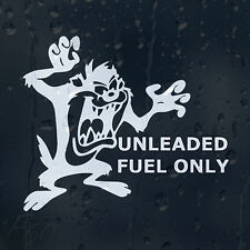 Funny Cartoon Taz Fuel Unleaded Only Car Decal Vinyl Sticker For Bumper Panel