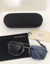 Vintage Emporio Armani Sunglasses EA 159 Brushed Silver C. 1265 Made In Italy