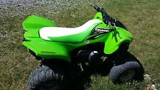 KAWASAKI KFX 700  V  force  seat cover  wht / lime grn