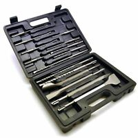 SDS Plus Chisel Set Masonry And Steel Drill Bit Set 15pc SIL72