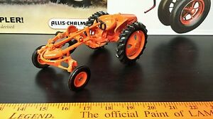Ertl Allis Chalmers G with plow 1/16 diecast metal farm tractor replica / toy