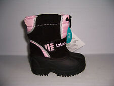TOTES KIDS TIA PINK & BLACK TODDLER GIRL'S WATER PROOF WINTER BOOTS SIZE 5 NEW!