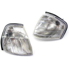 2PCS Car Front L & R Clear Turn Signal Corner Side Lamp Light Kit For W202 94-00