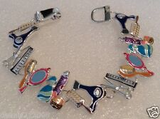 Stunning chunky magnetic enamel hairdressing beauty bracelet D84