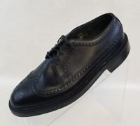 Freeman Mens Resoled Oxford Wingtip Brogue Black Leather Lace Up Shoes Size 6.5D