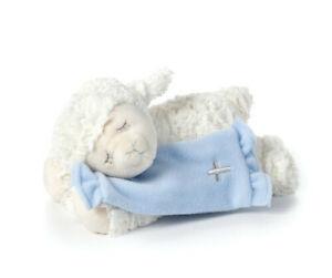 """Down To Sleep Lamb Blue 9.5""""/24cm Religious Teddy Bear"""