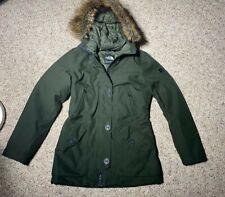 North Face Women's Mauna Kea Parka Jacket OLIVE GREEN 550 DOWN DRYVENT FUR TRIM