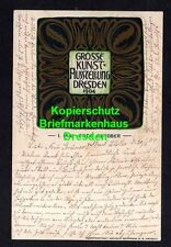114361 AK Dresden 1904 Kunst Ausstellung Künstlerkarte Verlag Kunstanstalt Wilhe