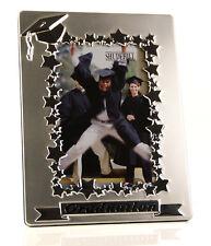 Two Tone Satin Silver Graduation Photo Frame Gift 60319