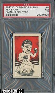 1947 D Cummings & Son Famous Fighters Boxing #8 Ken Shaw PSA 7 NM