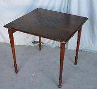 Antique Oak Folding Leg Game Table