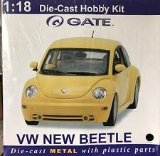 Gate VW New Beetle Black Car Hobby Model Kit Die-Cast 1:18 Scale NEW In Box
