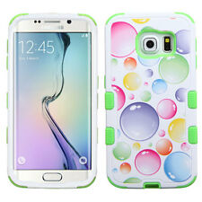 For Samsung GALAXY S6 Edge HYBRID Shockproof Rubber Hard Case Cover Bubbles