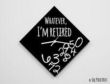 Whatever I'm Retired / Diamond Black - Wall Clock