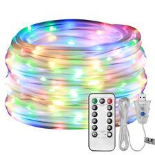 Wasserfest RGB USB Lichtschlauch mit 100 LEDs, 10M Lichterkette + Fernbedienung