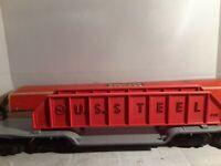 Lionel 6418 Vintage O Girder Bridge Machinery Car with Orange Girders/Box