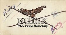 1975 Buick Dealer Price Directory Salesmens Reference Options & Prices Booklet