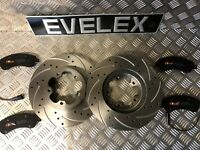 Ford Transit TDCi MK7 SWB FWD Front DRILLED AND GROOVED Brake Discs & Pads