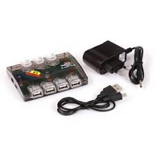 SCHNELLVERSAND! USB-PORT USB 2.0 HUB 7-PORT AKTIV MIT NETZTEIL USB-VERTEILER