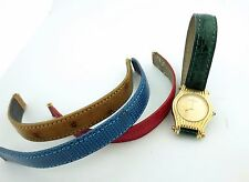 New Boucheron Green,Brown, Blue, Red Leather Strap Band Watch Wrist Band 14