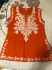 Made in India Sleeveless Stitch Top XS girls 10 New