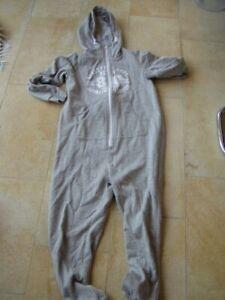 * Cooler grauer Sweat Overall Hoodie Kidz Gr. 146/152 - Girlies *