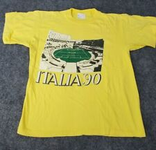 Vintage Men's Medium 1990 Made in Italy Andy Did It Shirt Italia Tee Yellow