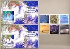 China Hong Kong 2014 Weather Phenomena Stamps + 2 S/S Rainbow Rain Cloud Typhoon
