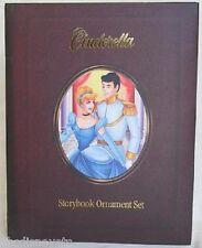 DISNEY Cinderella Storybook Ornament Set NEW Rare Set Of Eight (8) Christmas