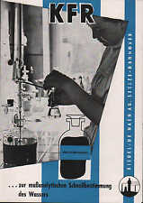 SEELZE/HANNOVER, Prospekt 1954, Riedel-De Haen AG Karl-Fischer-Reagens