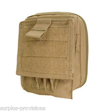 Condor MA35 Tactical Map Pouch Tan - Holds pens, documents etc.