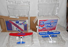 2 HEILEMAN'S  OLD STYLE BEER DIECAST BANK AIRPLANES 1995 MADE IN MEXICO
