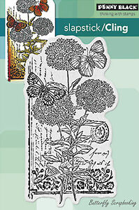 Scripted Blooms, Cling Style Unmounted Rubber Stamp PENNY BLACK - NEW, 40-288
