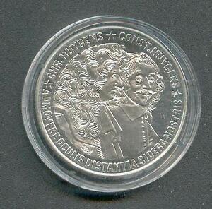 25 ECU Niederlande Gebrüder Huygens Riffelrand 1989 Silber PP