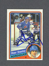 Peter Stastny signed Nordiques 1984-85 hockey card