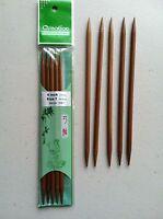 ChiaoGoo 6 Inch Moso Bamboo Dark Patina Double Point Knitting Needles MPN 1036