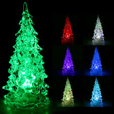 5 x Decorative Crystal Ice Sculpture Flashing Colour-Changing LED Christmas Tree