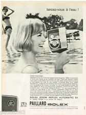 PUBLICITE ADVERTISING 0105  1964  PAILLARD BOLEX  caméra ZOOM REFLEX AUTOMATIC