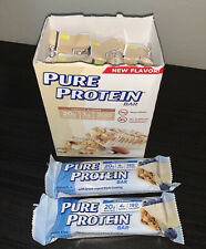 Pure Protein Bars 20g - 9x Vanilla Almond + BONUS 2x Blueberry - Opened Package