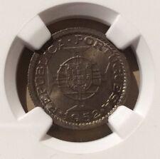 1952 Guinea-Bissau 2-1/2 Escudos NGC MS 64