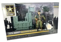 U.S. Army Defense Bunker Playset Figure, Bunker & Weapons ~ Excite Toys - NEW!!!