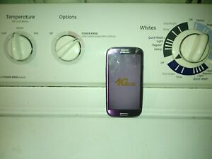 samsung galaxy 3  purple 16gb  sprint      sold as is please reed crack screen
