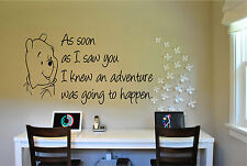 Winnie the Pooh Saying Wall Sticker Mural Wall Quote Stickers
