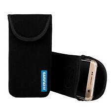 Caseflex Motorola Moto G4 Plus Case Best Neoprene Pouch Skin Cover - Black