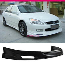 FIT 03 04 05 HONDA ACCORD 4DOOR MUG URETHANE FRONT BUMPER LIP SPOILER BODYKIT