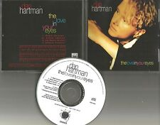 DAN HARTMAN The love in your eyes 4TRX FRANKIE KNUCKLES REMIX PROMO DJ CD single