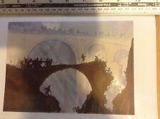 1920s Colour Woodcut Print The Devil's Bridge by Urushibara after Brangwyn
